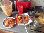 Blender peeled beans turned into delicious Akara