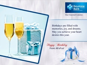 Even Keystone bank thought to send a message(this is a dormant I mean dormant account :P )