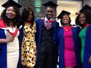 The Graduands Left to Right : Elohor, Katherine, Uche, Amaka, Atu